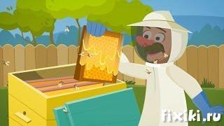 Фиксики - История вещей - Пчеловодство  Образовательные мультики для детей