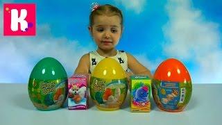 Забавные животные из песка и коробочки с сюрпризом и сладостями яйцо супер песок  candy & toy