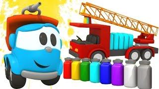 Развивающий мультик - Грузовичок Лева и пожарная машина