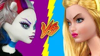 Барби против Монстер Хай 16 лайфхаков для кукол