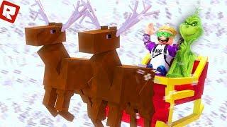 Roblox - Grinch вернулся Помогаю Гринчу разрушить рождество