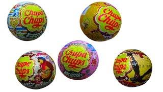 Свинка Пеппа Маша и Медведь Фиксики Чупа Чупс шары с сюрприз открываем игрушки surprise balls toys
