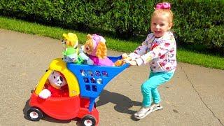 Детская площадка в парке и игрушки Щенячий Патруль