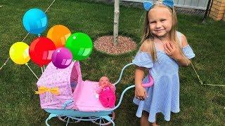 НОВАЯ Коляска и кукла почти РЕБОРН для девочек. Алиса  КАК МАМА