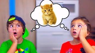 Камиль и Аминка НАШЛИ КОТЯТ Почему ПАПА НЕ НЕХОЧЕТ их ОСТАВЛЯТЬ Видео для Детей