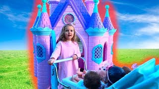 Замок Принцесс и живые КУКЛЫ. Тигр Амурчик. LOL и Мои подарки