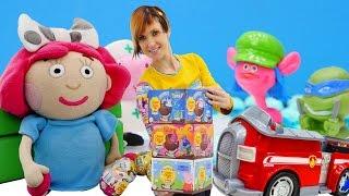 Игры для детей - Шоколадные шары -  видео про сюрпризы
