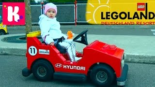Германия #1 Леголенд парк аттракционов. Катя выиграла игрушку кошечку