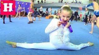 Еще одна ЗОЛОТАЯ МЕДАЛЬ  НИКОЛЬ ЧЕМПИОНКА  Соревнования по художественной гимнастике