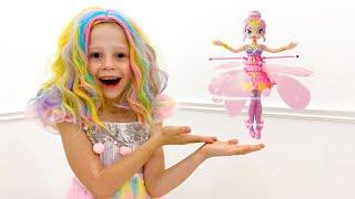Настя и новая игрушечная кукла. Nastya and the new toy doll Pixies Crystal Flyers