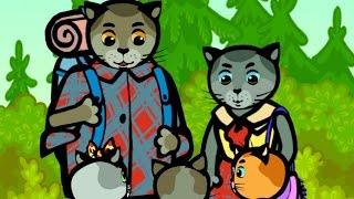 Развивающие, обучающие песенки для детей и малышей - Кто тебя сильнее? - Три котенка - песенки