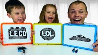 ЧЕЛЛЕНДЖ АССОЦИАЦИИ с игрушкам Minecraft и Roblox