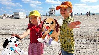 Рома и Диана с собачками PEPPY PETS летят в Америку