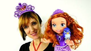 Видео для детей - Принцесса София и игры с Литл Пони