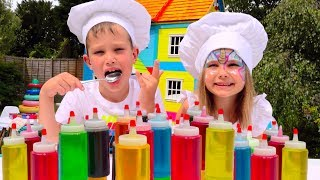 3 цвета топпинг и мороженое ЧЕЛлЕНдЖ