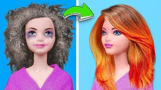 Барби против Принцесс Диснея - 13 ярких лайфхаков и поделок для кукол