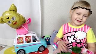 Классная машинка ДЛЯ ДЕВОЧЕК  Развлечение для детей Toys car Hello Kitty for girl Entertainment