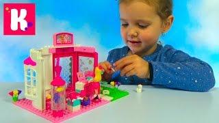 Барби с собачкой и кошечкой собираем из конструктора Mega Blocks Barbie with cat and dogs set