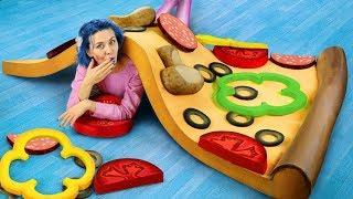 Гигантские игрушки антистресс и Огромная сквиши пицца