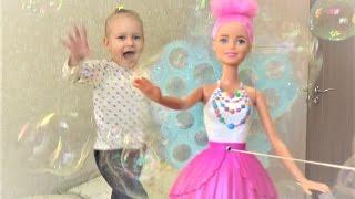 Развлечение для детей кукла Мыльные пузыри и Барби Дримтопия Entertainment for children Barbie