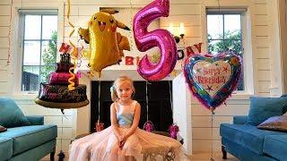 День Рождения! Алисе 5 лет. ПОДАРКИ!