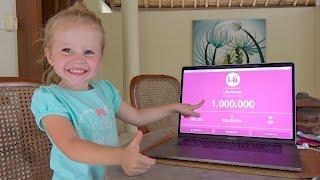 1000000 ПОДПИСЧИКОВ дарим ИГРУШКИ ВЫБИРАЙ bab baby или Маша и медведь? Лайк Настя Влог для детей