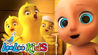 Little Chicks Los Pollitos Funny KIDS Songs with Johny Johny LooLoo KIDS Nursery Rhymes