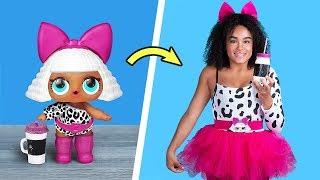 Превращаю себя в куклу ЛОЛ / Куклы ЛОЛ в реальной жизни 10 идей