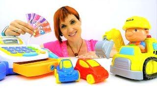 Про машинки и парковку. Видео для детей. Английский Магазин