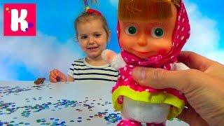 Маша повторюха из мультика Маша и Медведь распаковка сюрпризов игрушек Masha and the Bear
