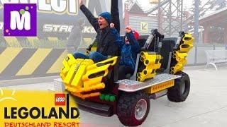 Германия 2 Леголенд парк аттракционов Макс катается на американских горках Legoland Germany trip