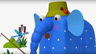 Деревяшки - Рыбалка - Серия 34 - мультики для малышей