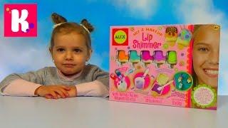 Блеск для губ набор для изготовления распаковка Lip Balm  set toy