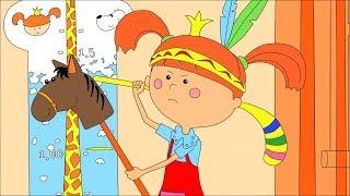 Раскраска с Царевной  Сборник Учим цвета - Развивающие, обучающие мультики для детей