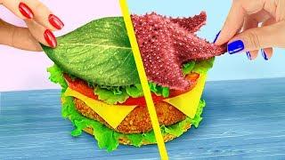 Радужный фастфуд для Русалки и Феи 10 идей и Кулинарный челлендж
