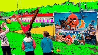 Энгри Бердз мы сегодня играем в Ангри Бердс Игра энгри улет Angry bird