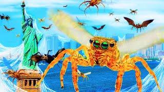 Что, если бы у пауков выросли крылья, и они научились летать?