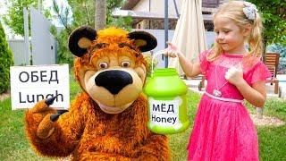 Настя и Медведь - история с воздушными шариками