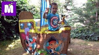 Джейк и Пираты корабль палатка Дисней и сундук с игрушками и конфетный Динозавр Джелли Бели меч