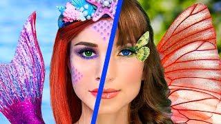 Косметика Русалки против косметики Бабочки Челлендж - 8 идей