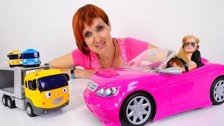Машина куклы БАРБИ и Машины игрушки: Тайо, МонстрХай.