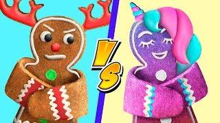 Новогодние сладости Единорога против сладостей Оленя 9 идей