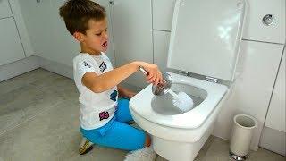 Лайфхак CHALLENGE на канале Макса. Учим детей убираться в доме.