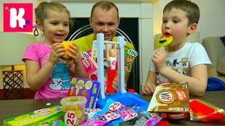 ЧЕЛЛЕНДЖ гимнастика Очень много конфет Желейное ПИВО Fantastic gymnastics Candy Challenge for kids