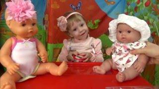 Беби Бон и кукла пупсик готовят печенье из плей до винчи. Видео для детей