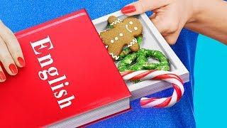 13 новогодних пранков и лайфхаков для школы - Как пронести новогодние сладости