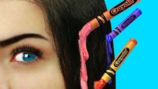 16 лайфхаков для волос - Простые прически