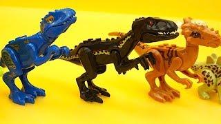 Динозавры игрушки конструктор для детеи. Собираем динозавриков