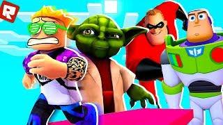 Roblox - Побег из мира мультиков и Дисней Disney Pixar Obby