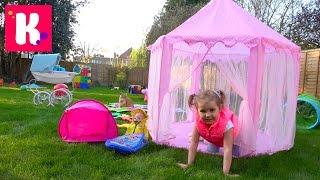 ШОКОЛАДНАЯ ПИЦЦА с куклой во дворе Пикник и Палатка для Baby Born outdoor fun & Chocolate Pizza